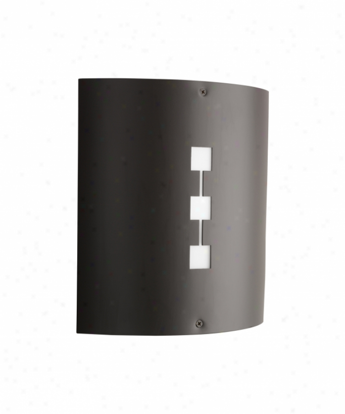 Kichler 9240az Newport 1 Light Outdoor Wall Light In Architectural Bronze With White Acrylic Defuser Glass