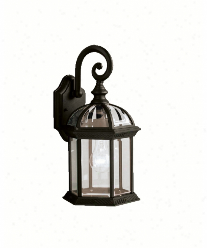 Kichler 9735bk New Street Series 08 Outdoor 1 Light Exterior Wall Light In Black With Clear Beveled Panels Glass