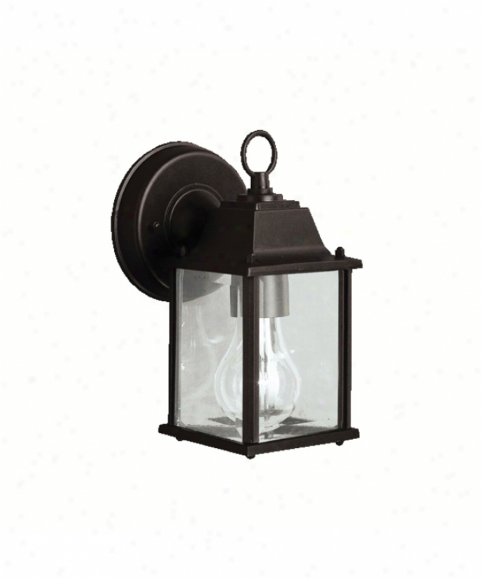 Kichler 9794bk New Street Series 08 Outdoor 1 Bright Outdoor Wall Light In Black With Clear Beveled Panels Glass