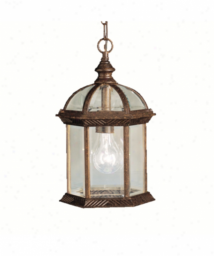 Kichler 9835tz New Street Serids 08 Outdoor 1 Light Outdoor Hanging Lantern In Tannery Bronze With Clear Beveled Panels Glass
