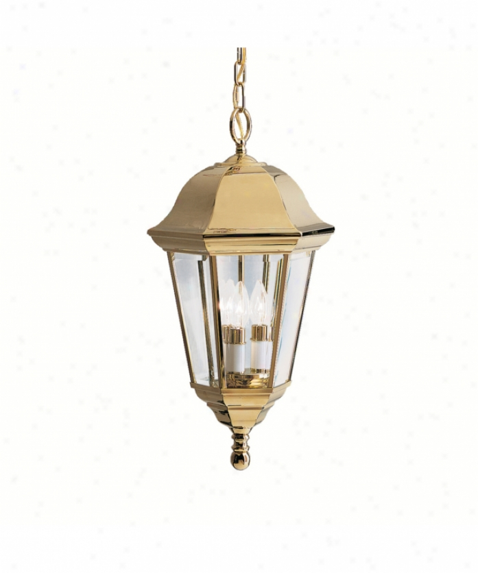 Kichler 9889pb Brownstone 3 Light Outdoor Death by the halter Lantern In Polished Grave Brass With Clear Beveled Panels Glass
