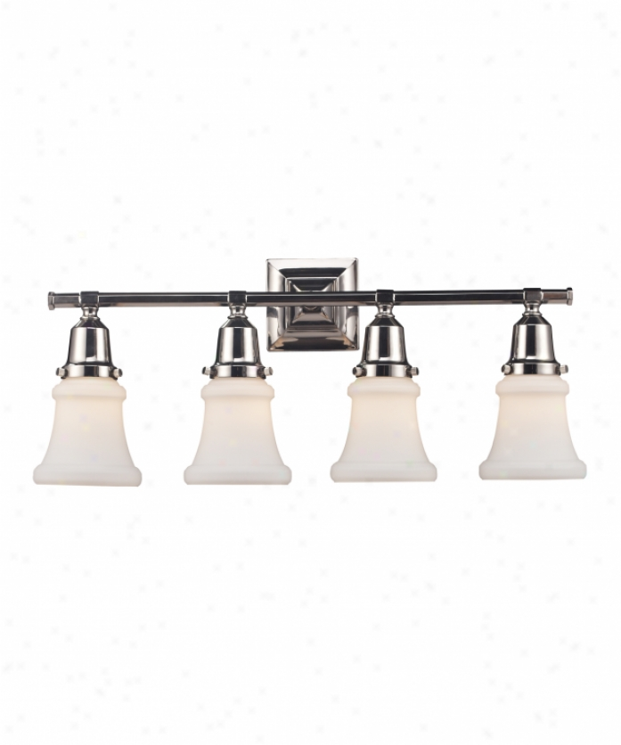 Blown Glass Vanity Light : Hinkley Lighting 5394PL Isabella 4 Light Bath Vanity Light in Polished Antique Nickel with ...