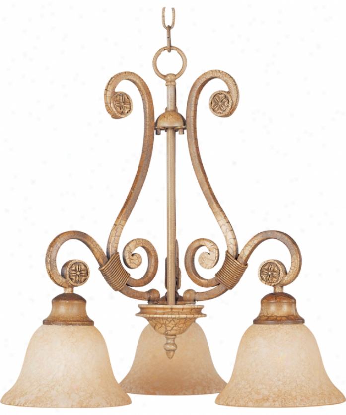 Maxim Lighting 11255figc Cosmopolitan 3 Light Single Tier Chandelier In Grand Canyon Crackie With Frosted Chill Glass