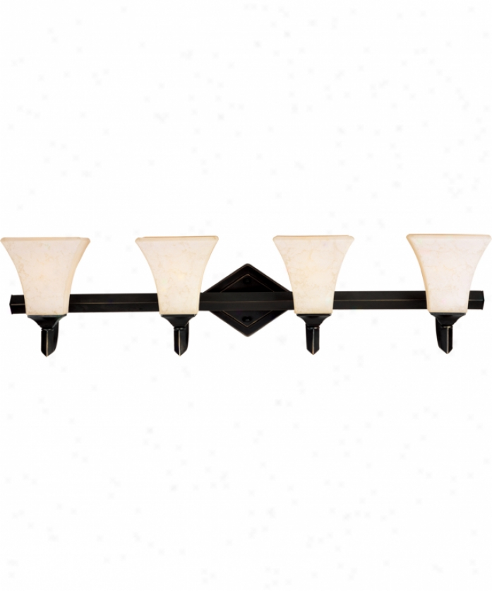 Maxim Lighting 12434flhb Mission Bay 4 Light Bath Vanity Light In Heirloom Bronze With Frost Lichen Glass