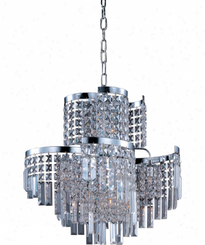 Maxim Lighting 39805bcpc Belvedere 12 Light Single Tier Chandelier In Classic Chrome With Beveled Crystal Glass