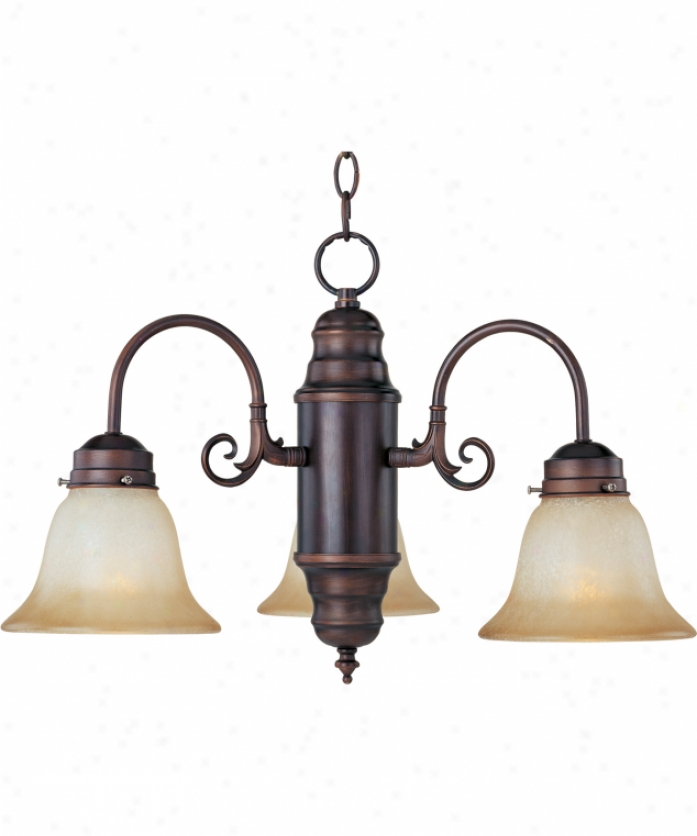 Maxim Lighting 91196wsoi Builder Basics 3 Light Single Tier Chandelier In Oil Rubbed Bronze With Wilshire Glass