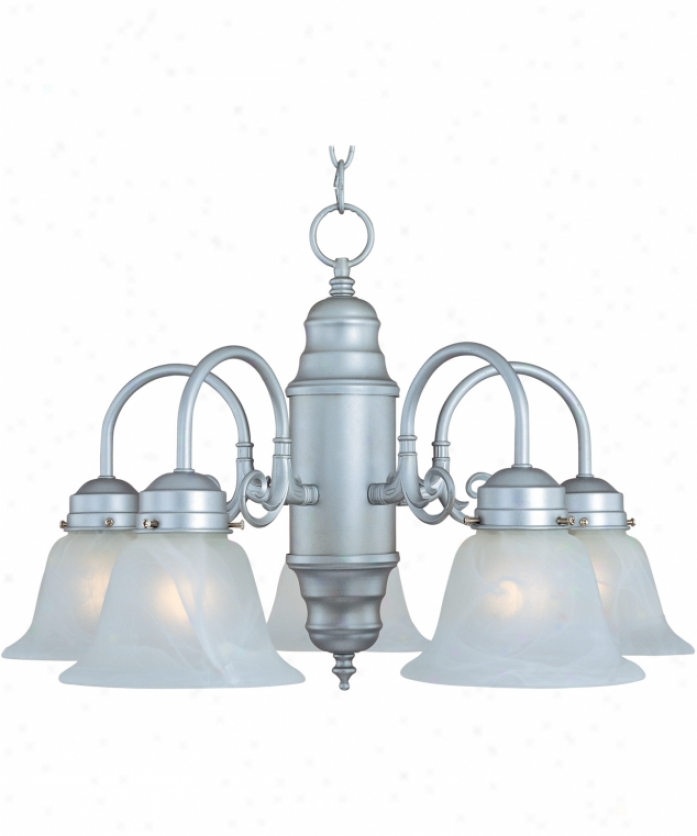 Maxim Lighting 91197wsoi Builder Basics 5 Light Single Row Chandelier In Oil Rubbed Bronze With Wilshire Glass