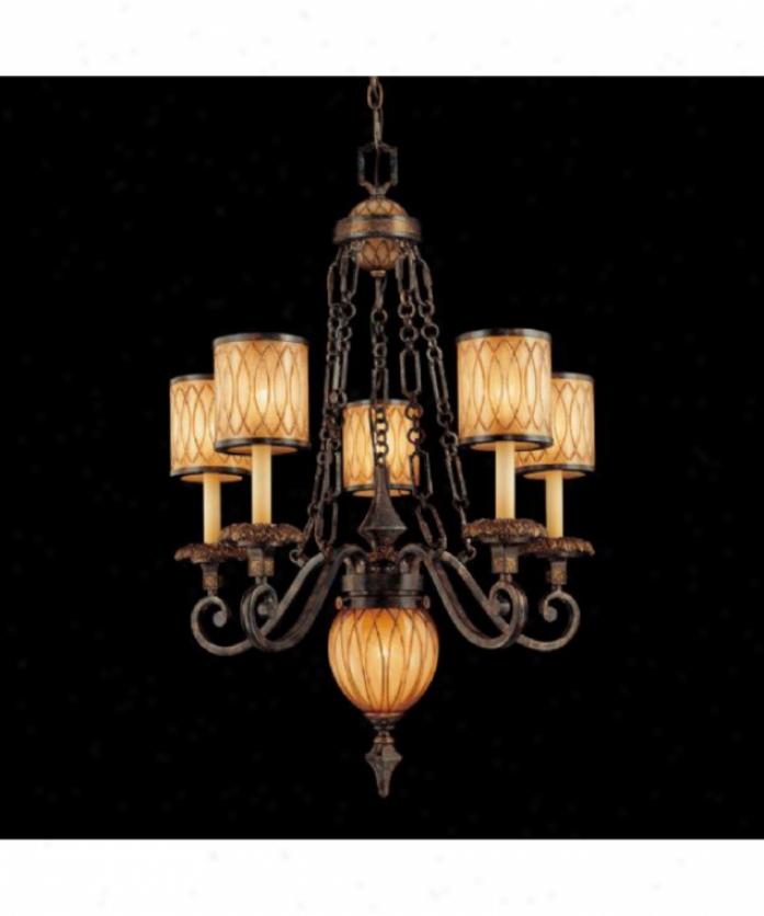 Metropolitan N6495-270 Terraza Villa 5 Light Single Tier Chandelier In Terraza Villa Patina Wgpld Leaf Accents With Spumanti Stratp Glaes