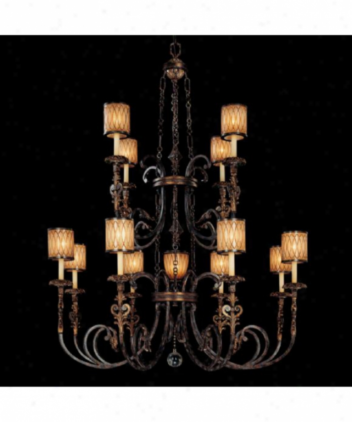 Metropolitan N6499-270 Terraza Country house 12 Light Large Foyer Chandelier In Terraza Villa Patina Wgold Leaf Accwnts With Spumanti Strato Glass