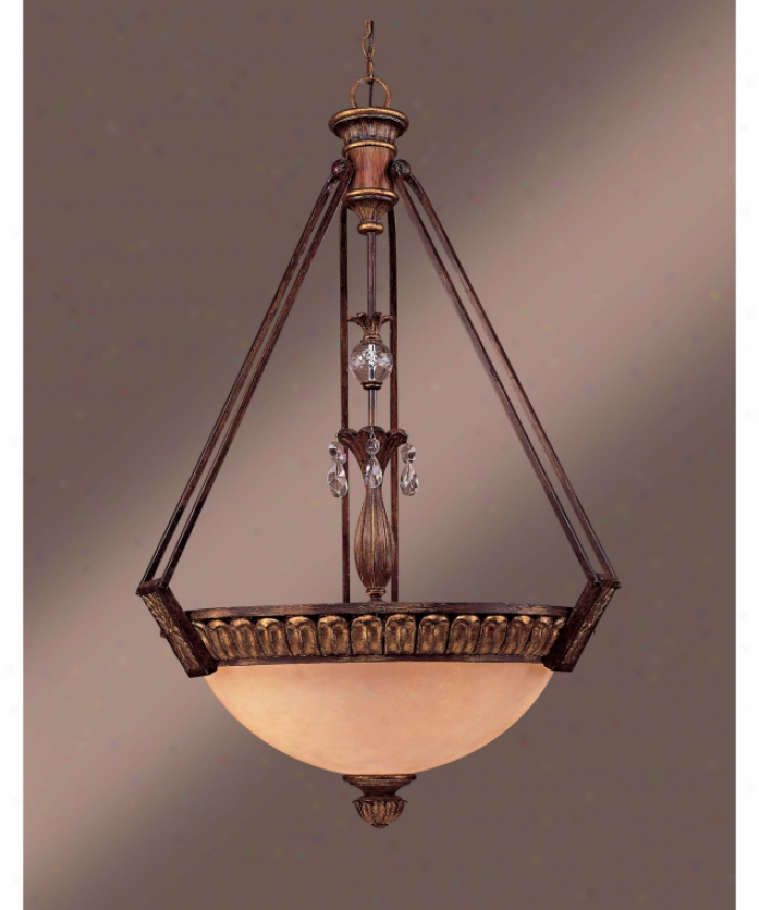 Minka Lavery 1314-455 Artois 3 Light Ceiling Pendant In Antique Zibelline With Gold Highlights With Artois Antique Glassclear Crystal