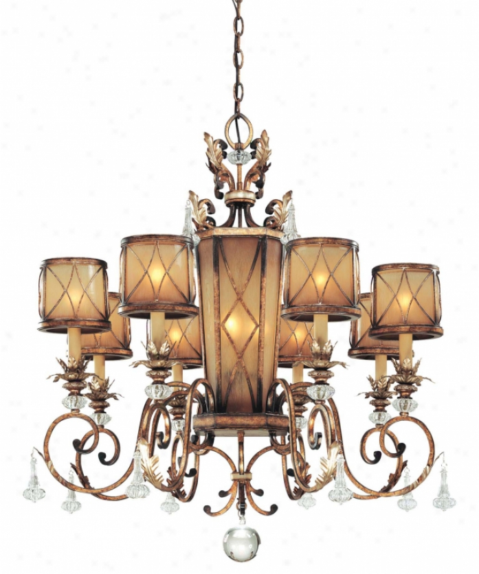 Minka Lavery 4749-206 Aston Court 12 Light Single Tier Chandelier In Aston Court Alloy of copper With Avorio Mezzo G1ass Glass