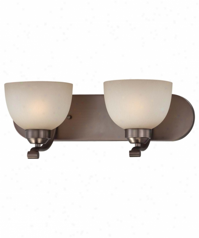 Minka Lavery 5422-281 Paardox 2 Light Bath Vanity Light In Harvard Court Bronze With Light French Scavo Glass