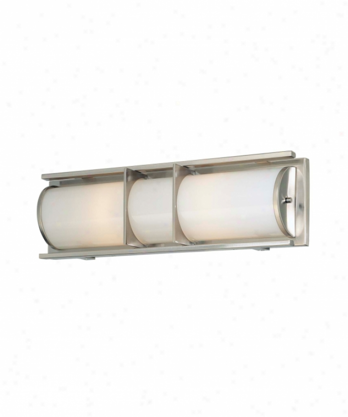 Minka Lavery 6492-84 Archcrest 2 Light Bath Vanity Light In Brushed Nickel With Etched White Glass Glass