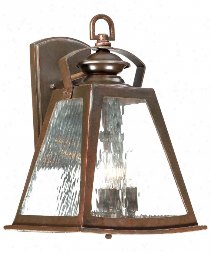Minka Lavery 72292-291 Oxford Road 4 Gossamery Outdoor Wall Light In Architectural Bronze With Clear Sprinkle and calender  Glass