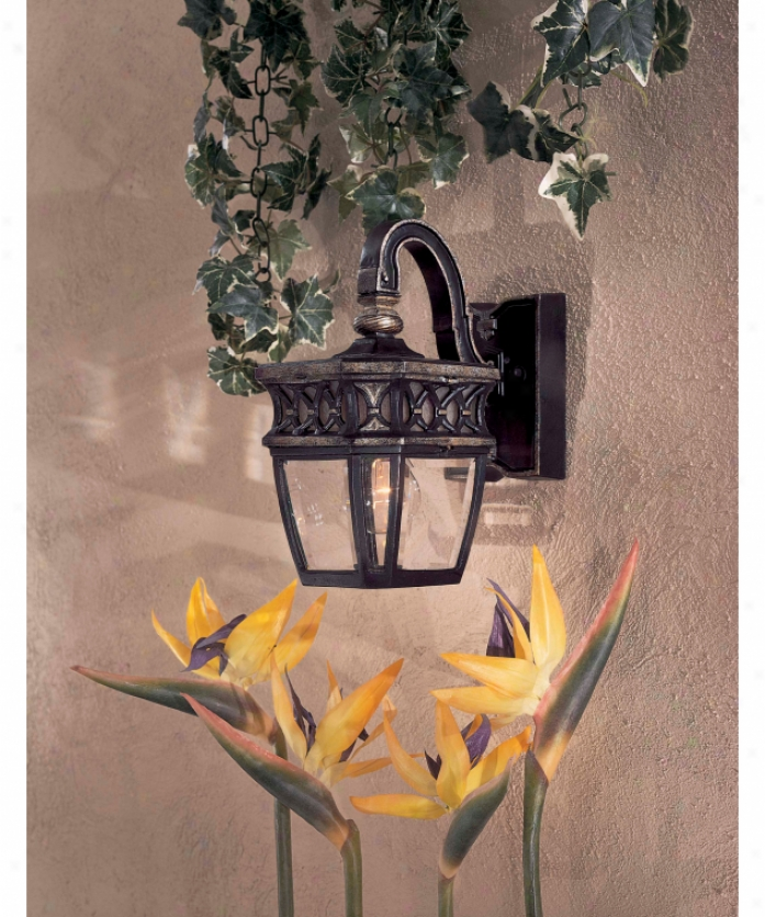 Minka Lavery 8501-164 Capalona 1 Light Outdoor Wall Light In Heritage Wsilver Highlights With Double Frenchh Scavoclear Beveled Glass
