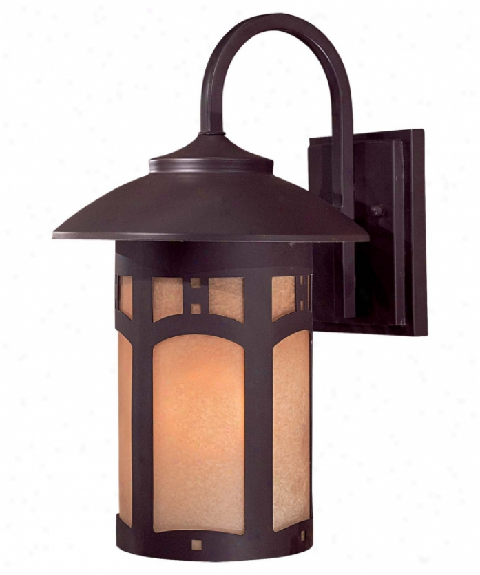 Minka Lavery 8722-a615b Beacon Rhodes 1 Light Outdoor Wall Light In Dorian Bronze With Double French Scwvo Glass