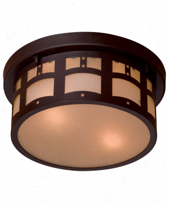 Minka Lavery 8729-a615b Beacon Rhodes 2 Light Outdoor Glowing Mount In Dorian Bronze With Doubling French Scavo Glass