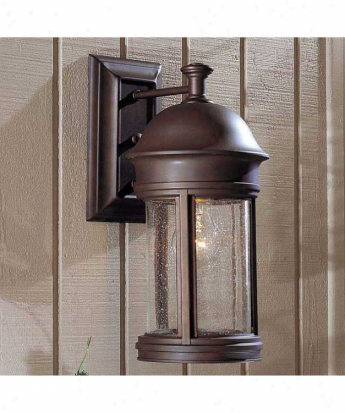 Minka Lavery 8821-57 Chatham 1 Light Outdoor Wall Light In Roman Bronze With Mouth Blown Clear Seeded Glass