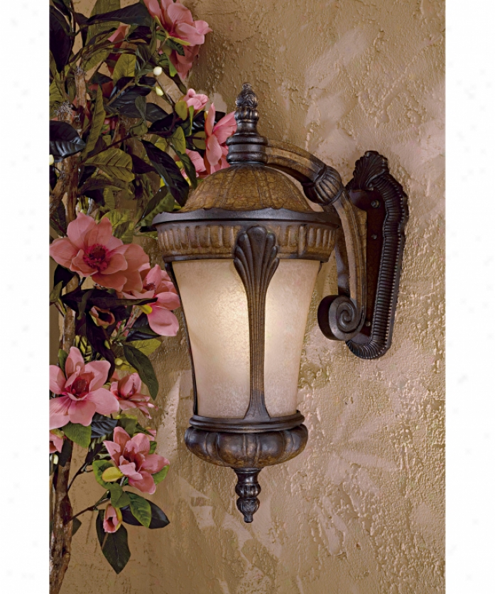 Minka Lavery 9147-407-pl Kent Place Energy Smart 1 Light Outdoor Wall Light In Prussian Gold With Double French Scavo Goass