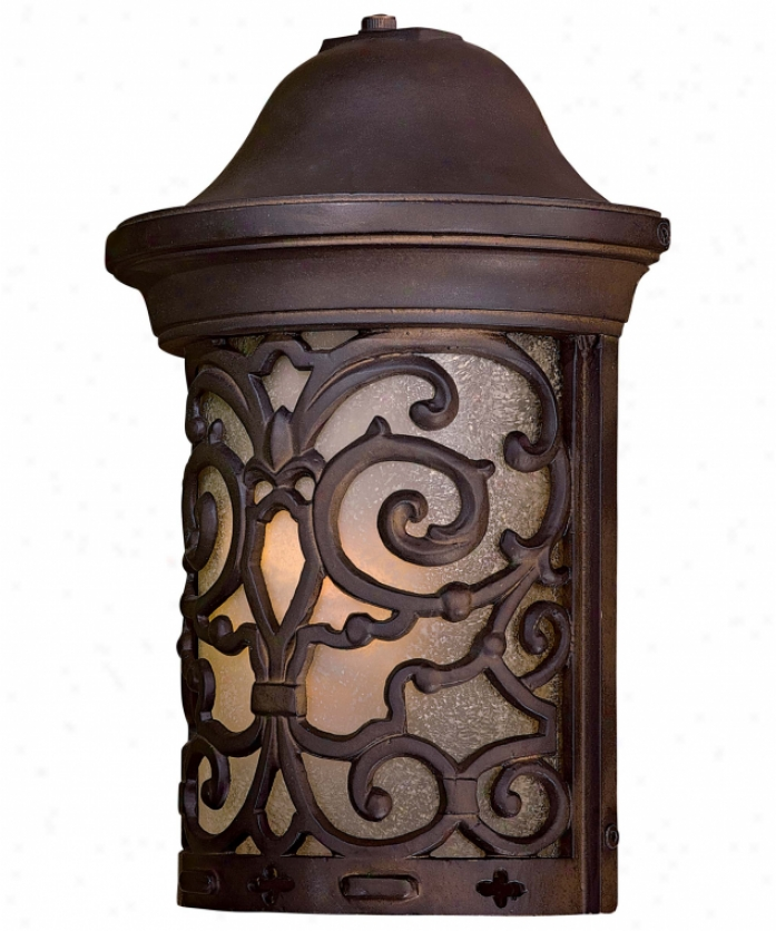 Minka Lavery 9190-189-pl Chelsea Road Energy Smart 1 Light Outdoor Wall Light In Chelsea Bronze Upon Double French Scavo Glass