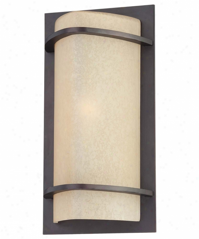 Minka Lavery 9821-298 Valencia Bay 1 Light Outdoor Wall Light In Kinston Bronze With Light Double French Scavo Glass