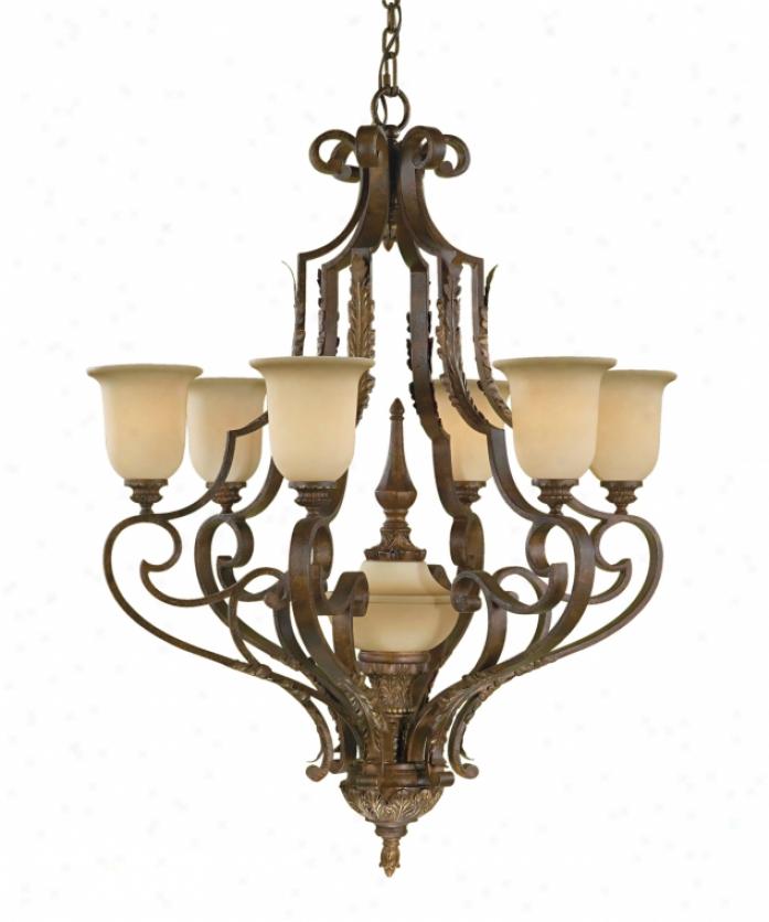 Murray Feiss Chandelier 6 Light: Justice Design Group GLA-8773-16-CLRT-CROM Dakota Veneto