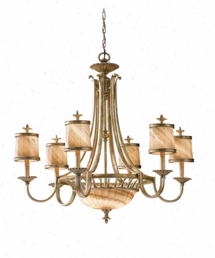Murray Feiss Chandelier 6 Light: Savoy House 1-1770-3-28 Huntington 3 Light Single Tier