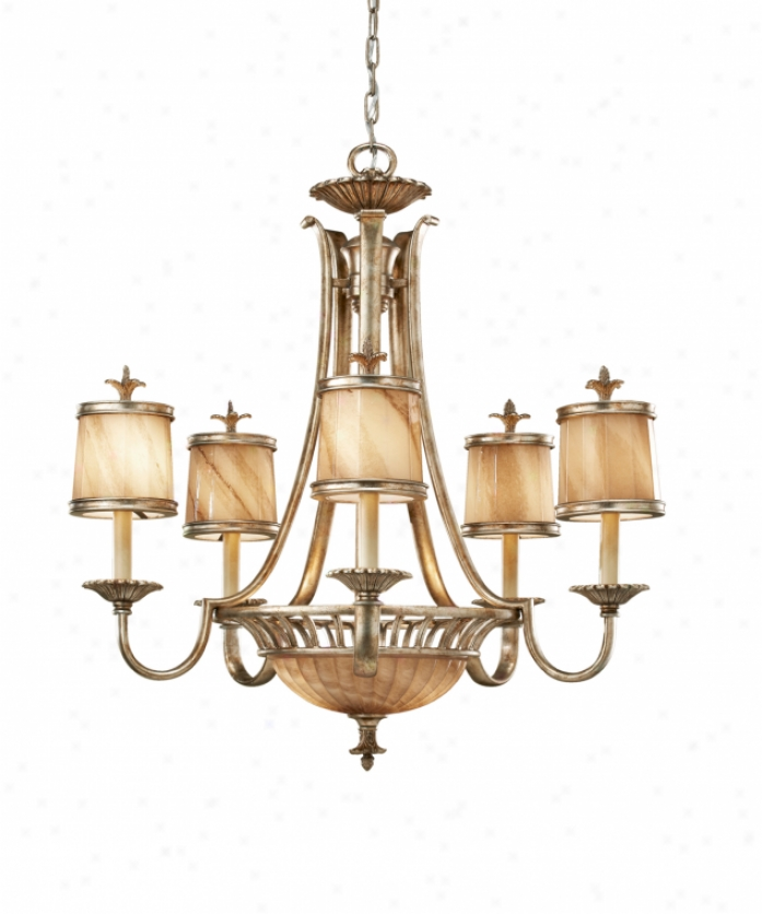 Murray Feiss Foyer Lighting: Murray Feiss F2626-5+2OSL Bancroft 7 Light Single Tier