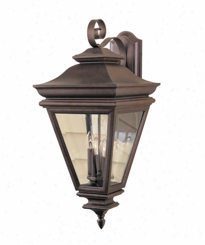 Murray Feiss Ol2704cb Hampshire Court 4 Light Outdoor Wall Light In Corinthian Bronze With Clear Glass Glasw