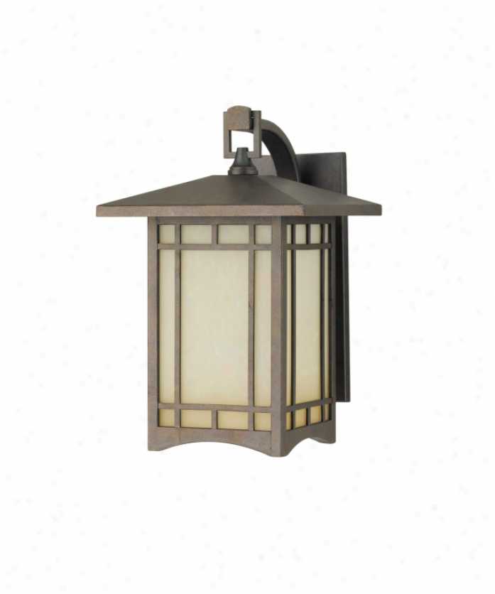 Murray Feiss Ol5302cb August Moon 1 Light Outdoor Wall Light In Corinthian Bronze With Antique Excavation Glass Glass
