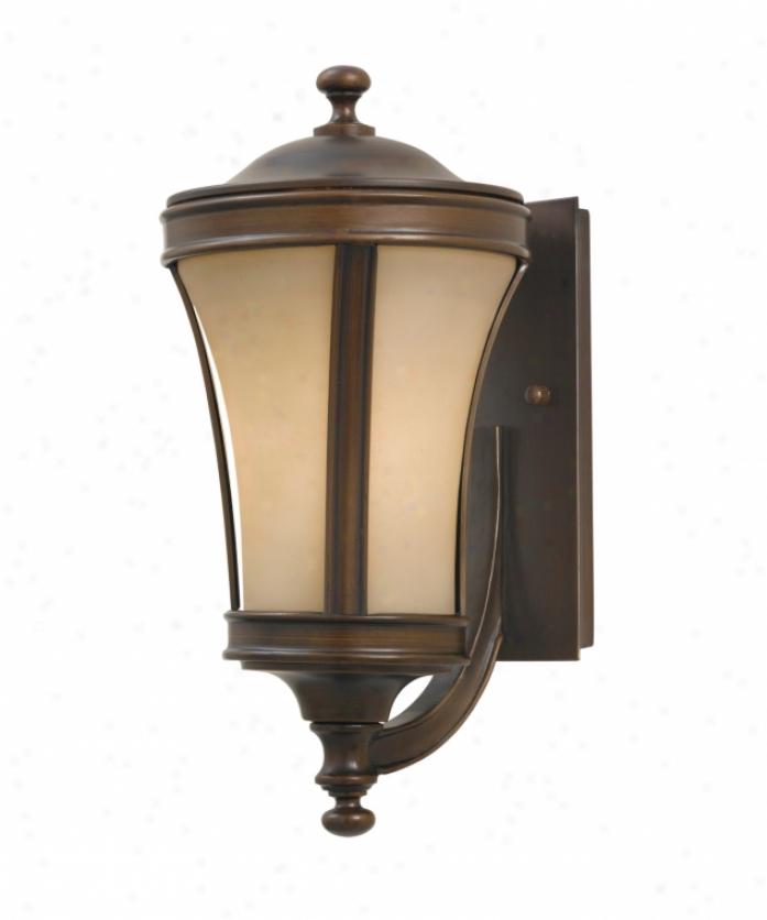 Murray Feiss Ol7202htbz Cornerstone 3 Light Outdoor Wall Light In Heritage Bronze With Cream Snow Glass Glass