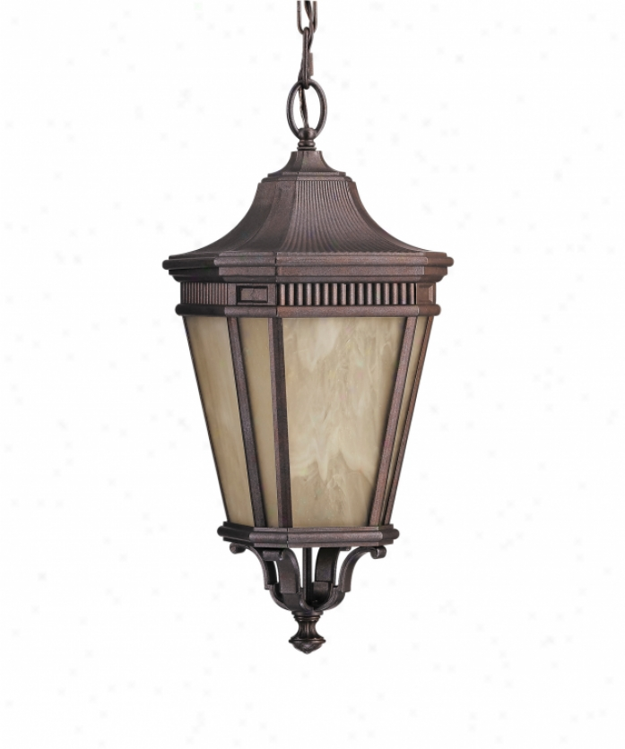 Murray Feiss Olpl5811cb Cotswold Lane Energy Smart 1 Light Outdoor Hanging Lantern In Corinthian Bronze Attending Cream Alabaster Glass