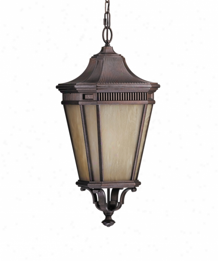 Murray Feiss Ollpl5812cb Cotswold Lane Energy Smart 1 Light Outdoor Hanging Lantern In Corinthian Bronze With Cream Alabaster Glass