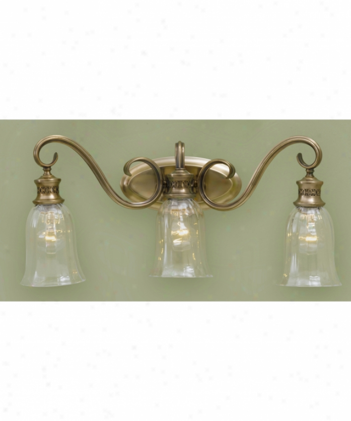 Murray Feiss Vs13903bv Bernadette 3 Light Bath Vanity Light In Brushed Bronze Wtih Hand Blown Clear Optif Glass Glass