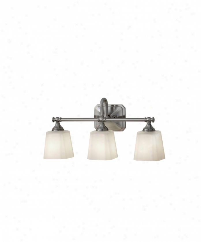 Murray Feiss Vs19703bs Consonance 3 Light Bath Vanity Light In Brushed Steel With White Opal Etchedglass Glasa