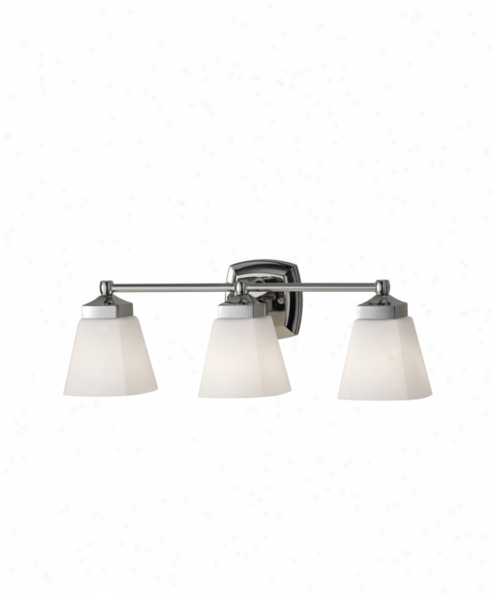 Murray Feiss Vs19903pn Delaney 3 Light Bath Vanity Light In Pollshed Nickel With White Opal Etchedglass Glass