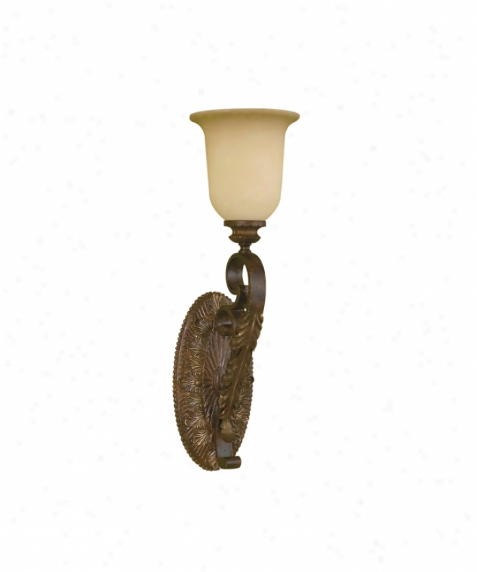 Murray Feiss Wb1265ats Coventry Castle 1 Light Wall Sconce In Aged Tortoise Shell With Speckled Champagne Scavo Glass Glass