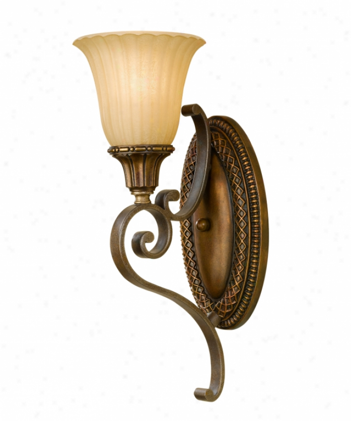 Murray Feiss Wb1418fg-brb Kelham Hall 1 Light Wall Scoce In Firenze Gold-british Bronze With India Scavo Glass Glass