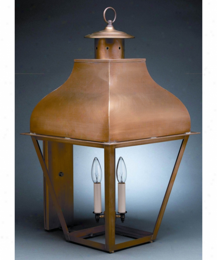 Northeast Lantern 7651-dab-cim-smg Stanfield 1 Light Outdoor Wall Light In Dark Antique Brass Attending Seedy Marine Glass