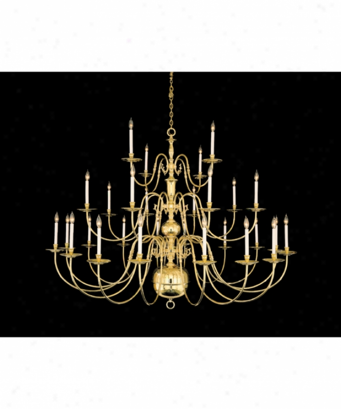 Nulco Lighting 1928-01 Old Vigrinia Architectural 28 Loose Large Foyer Chandelier In Weathered Brass With No Shades Glass