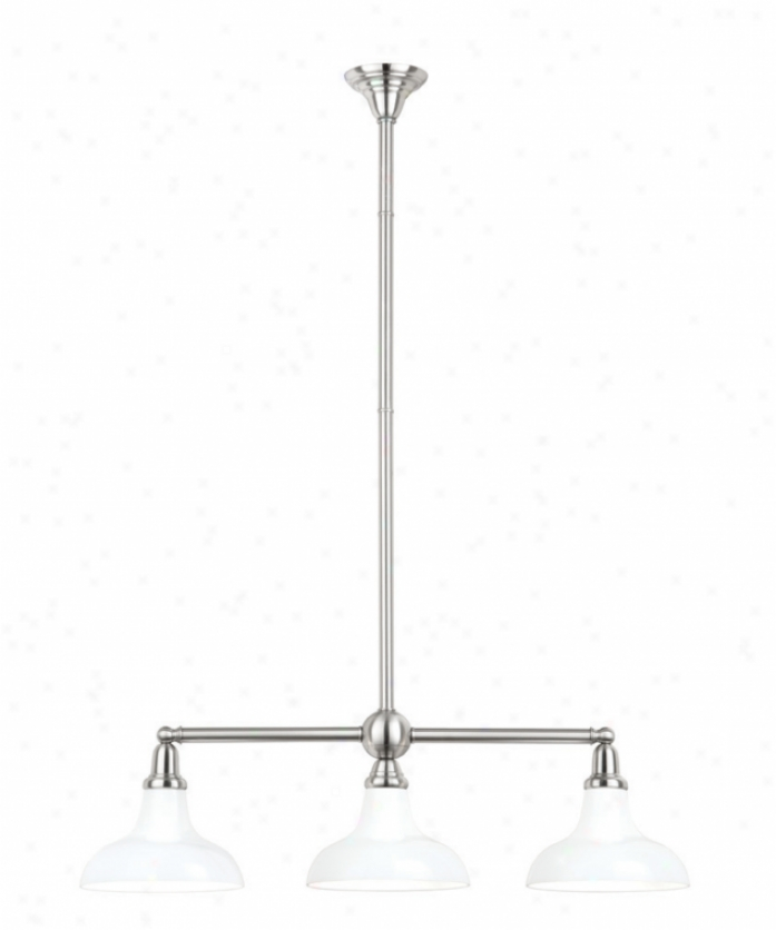 Nulco Lighting 2613k-80-op Vintage Configurable 3 Light Island Gossamery In Architectural Bronze With Kiss Shaped Opal White Glass Glass
