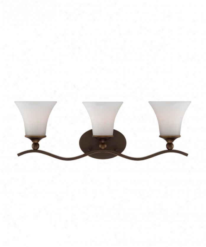 Quoizel Sph8703pn Sophia 3 Light Bath Vanity Light In Palladian Brass With Etched Glass Painted White Inside Glass