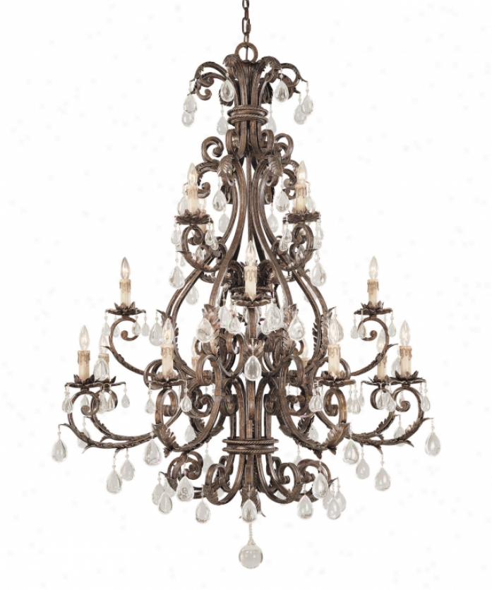 Savoy Shelter 1-5308-16-8 Chastain 16 Light Large Foyer Chandelier In New Tortoise Shell Wsilver With Clear Crystal Crystal
