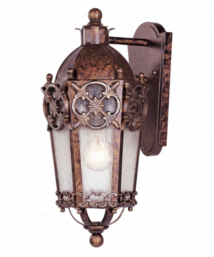 Savoy House 5-1059-8 Torino 1 Light Outdoor Wall Light In New Tortoise Shell Wsilver Through  Pale Cream Textured Glass