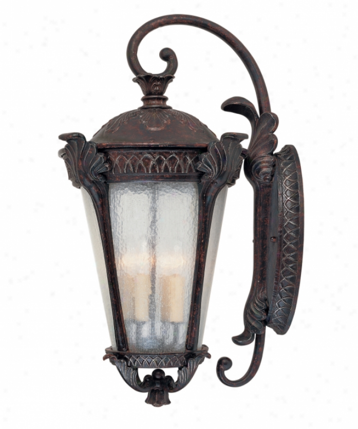 Savoy House 5-669-59 Pompi 4 Light Outdoor Wall Light In Distressed Bronze With Pale Cream Textured Glass