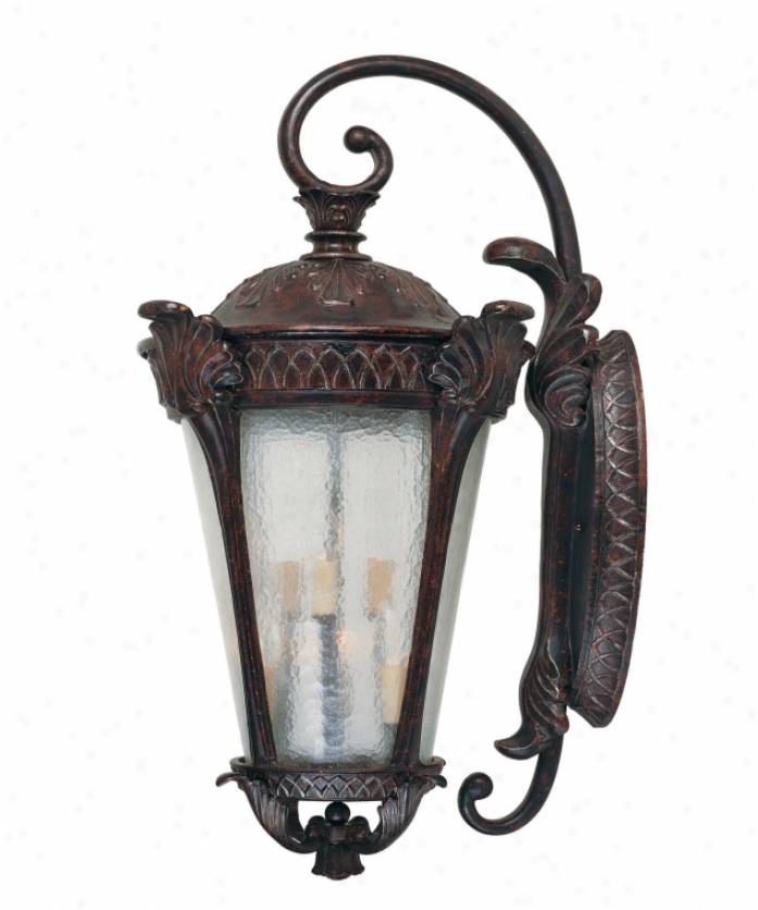 Savoy House 5-670-59 Pompia 6 Light Outdoor Wall Light In Distressed Bronze Wtih Pale Cream Textured Glass Glass