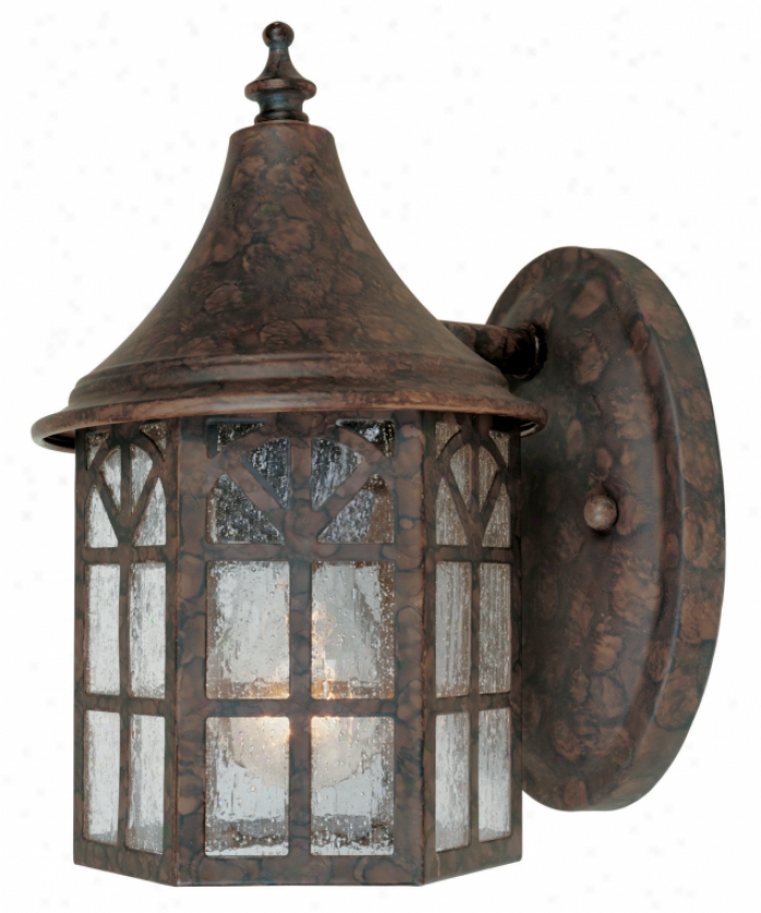 Savoy House 5-8250-56 Manchester 1 Light Outdoor Wall Light In New Tortoise Shell With Pale Cream Textured Glass