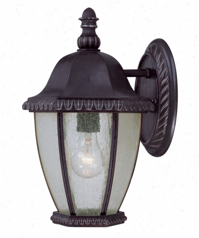 Savoy House 5-8300-59 Highlands 1 Light Outdoor Wall Light In Distressed Bronze With Pale Cream Textured Glass