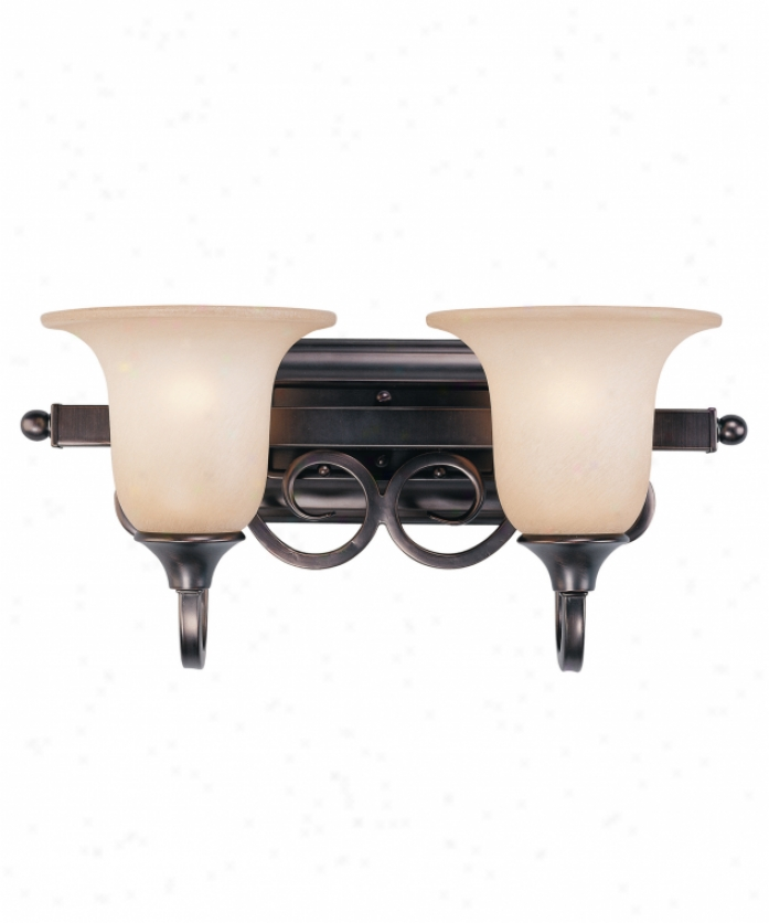 Savoy House 8-1781-2-28 Huntington 2 Light Bath Vanity Light In Oiled Burnished Bronze With Antique Eddy Scavo Glass