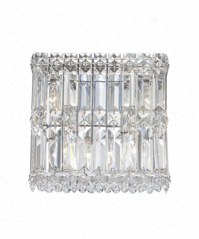Schobnek 2230gs Quantum 4 Light Wall Sconce In Polished Chrome With Swarovski Strasa Golden Shadow Crystal